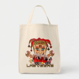Vegas Joker's Wild View Large Image below Canvas Bags