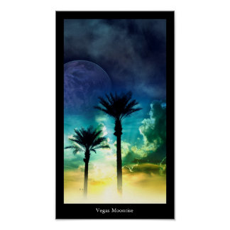 Vegas Moonrise Poster