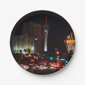 Vegas Paradise Road 7 Inch Paper Plate