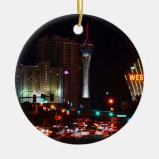 Vegas Paradise Road Ceramic Ornament