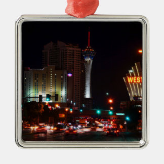 Vegas Paradise Road Metal Ornament