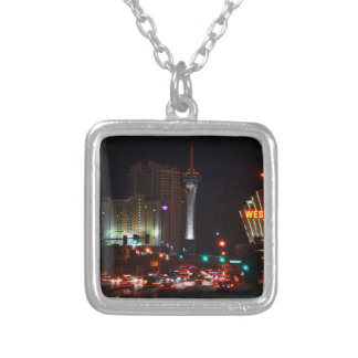 Vegas Paradise Road Silver Plated Necklace