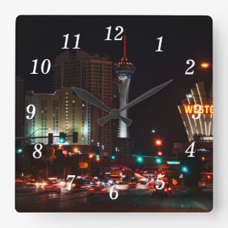 Vegas Paradise Road Square Wall Clock