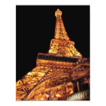 Vegas - Paris - Eiffel Tower Restaurant 11 Cm X 14 Cm Invitation Card