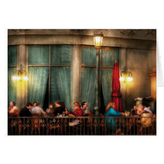 Vegas - Paris - The outdoor Cafe Greeting Card