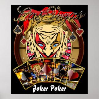 """Vegas Party Joker Poker 32""""X37 View Notes Print"""