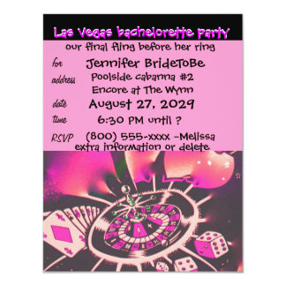 Vegas Pink Bachelorette Invitation