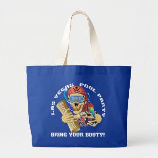 Vegas Pool Pirate Bring your Booty Large Tote Bag