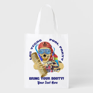 Vegas Pool Pirate IMPORTANT Read About Design Grocery Bag