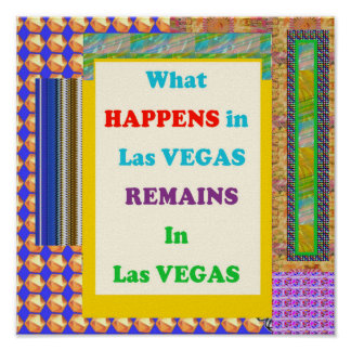 VEGAS QUOTE FUNNY travel casino resorts vacation Poster