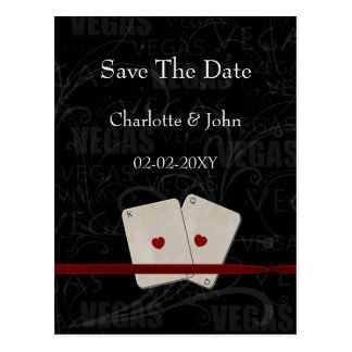 vegas save the date announcement postcards