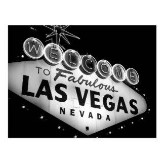 Vegas Sign B&W Postcard