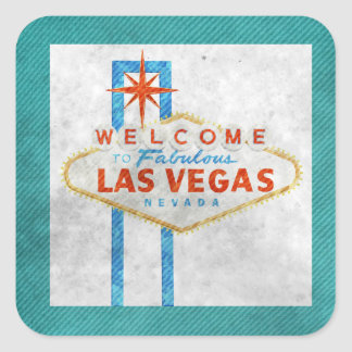 vegas sign grunge square sticker