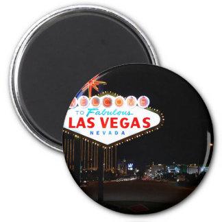 Vegas Sign Night Refrigerator Magnet