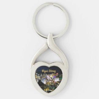 Vegas Strong Heart Shaped Memento Key Ring