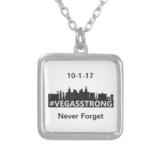 Vegas Strong Silver Plated Necklace