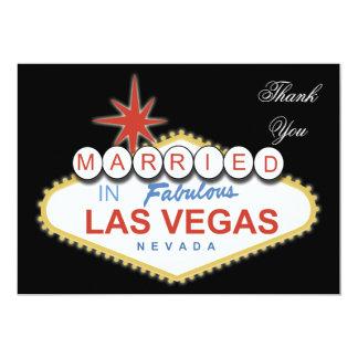 "Vegas theme Thank You Card 5"" X 7"" Invitation Card"