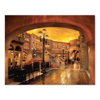 Vegas - Venetian - The streets of Venice 11 Cm X 14 Cm Invitation Card