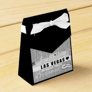 Vegas Wedding Gift Ideas - Black Wood Favour Box