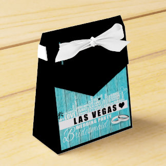 Vegas Wedding Gift Ideas - Favour Boxes Teal Wood