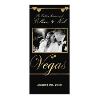 Vegas Wedding Program Template Rack Card Template