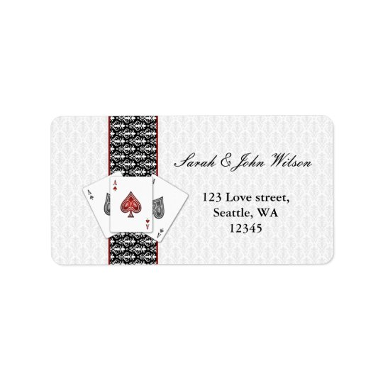 vegas wedding ,return address label