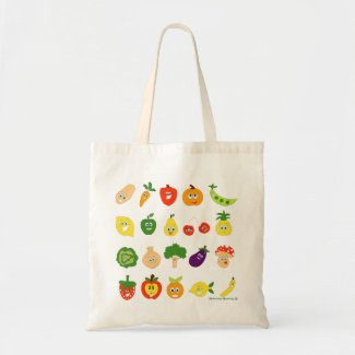 Vegetable Carry All Tote Bag