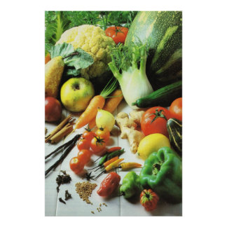 Vegetable feast poster