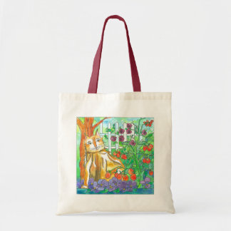 Vegetable Garden Calico Cat Painting