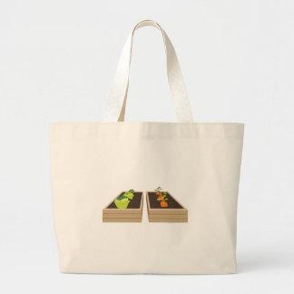 Vegetable Garden Large Tote Bag