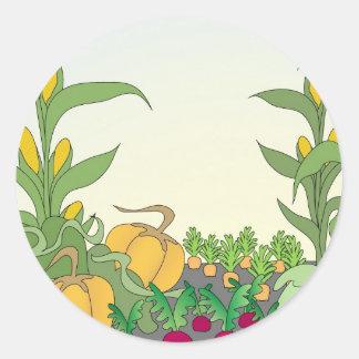 Vegetable Garden Round Stickers