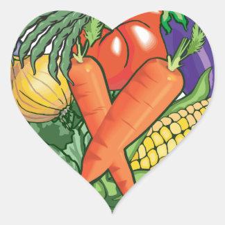 Vegetable Gardening Heart Sticker