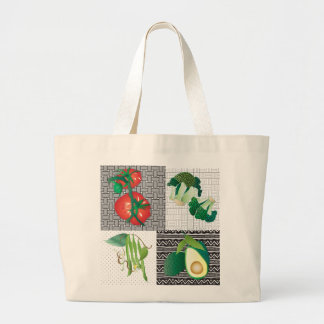 Vegetable Heaven Large Tote Bag