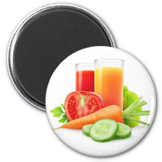 Vegetable juices 6 cm round magnet