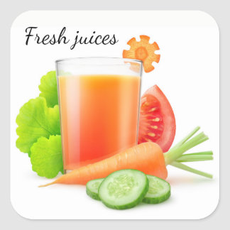Vegetable juices square sticker