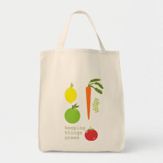 Vegetable Organic Reusable Grocery Tote