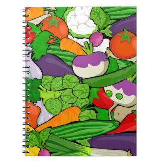 Vegetable Pattern Notebook