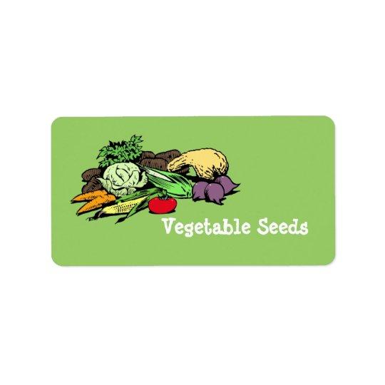Vegetable Seed Labels
