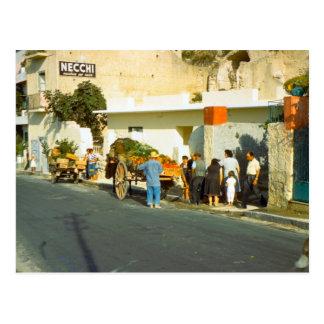 Vegetable seller, Salerno Postcard