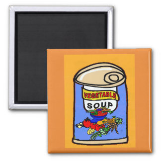 Vegetable Soup, comical can Magnet