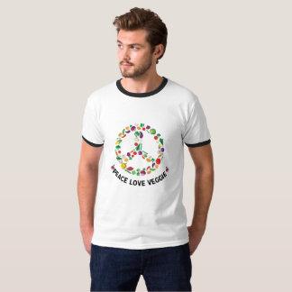 Vegetable Veggie Peace Sign  Vegan T-Shirt