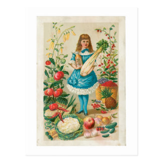 Vegetable Vintage Food Ad Art Postcard