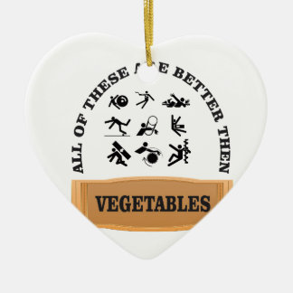 vegetable yuck ceramic ornament