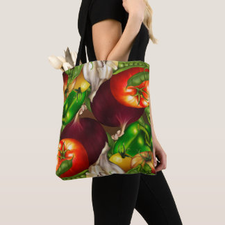 Vegetables and Herbs Organic Food Farmer's Market Tote Bag