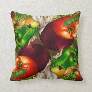 Vegetables and Herbs Organic Natural Fresh Food Cushion