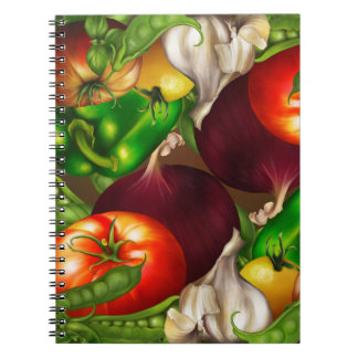 Vegetables and Herbs Organic Natural Fresh Food Notebook