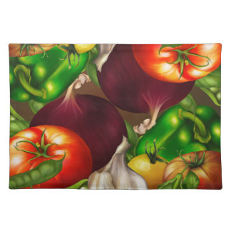 Vegetables and Herbs Organic Natural Fresh Food Placemat