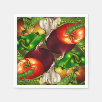 Vegetables and Herbs Organic Natural Veggies Food Disposable Napkin
