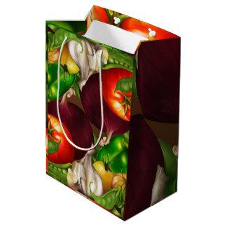 Vegetables and Herbs Organic Natural Veggies Food Medium Gift Bag
