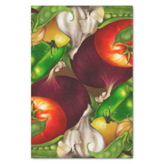 Vegetables and Herbs Organic Natural Veggies Food Tissue Paper